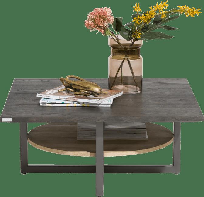 XOOON - Moniz - Minimalistisch design - salontafel 80 x 80 cm + 1-niche