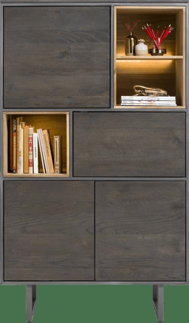 XOOON - Moniz - Minimalistic design - cabinet 100 cm - 4-doors + 3-niches (+ led)
