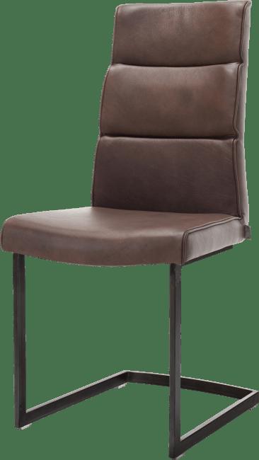 XOOON - Jascha - Industriel - chaise pied traineau metal noir + poignee noir