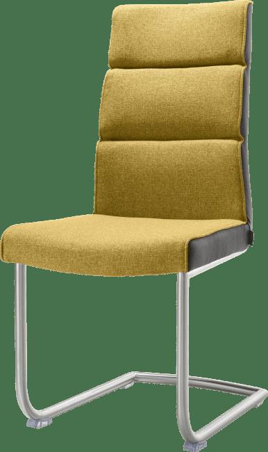 XOOON - Jasmin - Industriel - chaise - pied traineau inox rond avec poignee