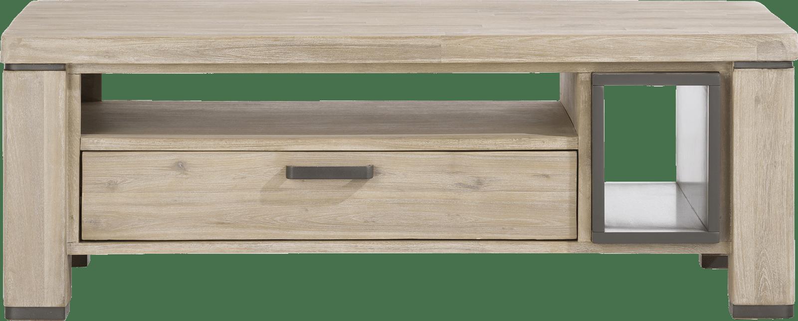 Happy@Home - Coiba - Modern - salontafel 125 x 60 cm + 1-lade t&t + 2-niches