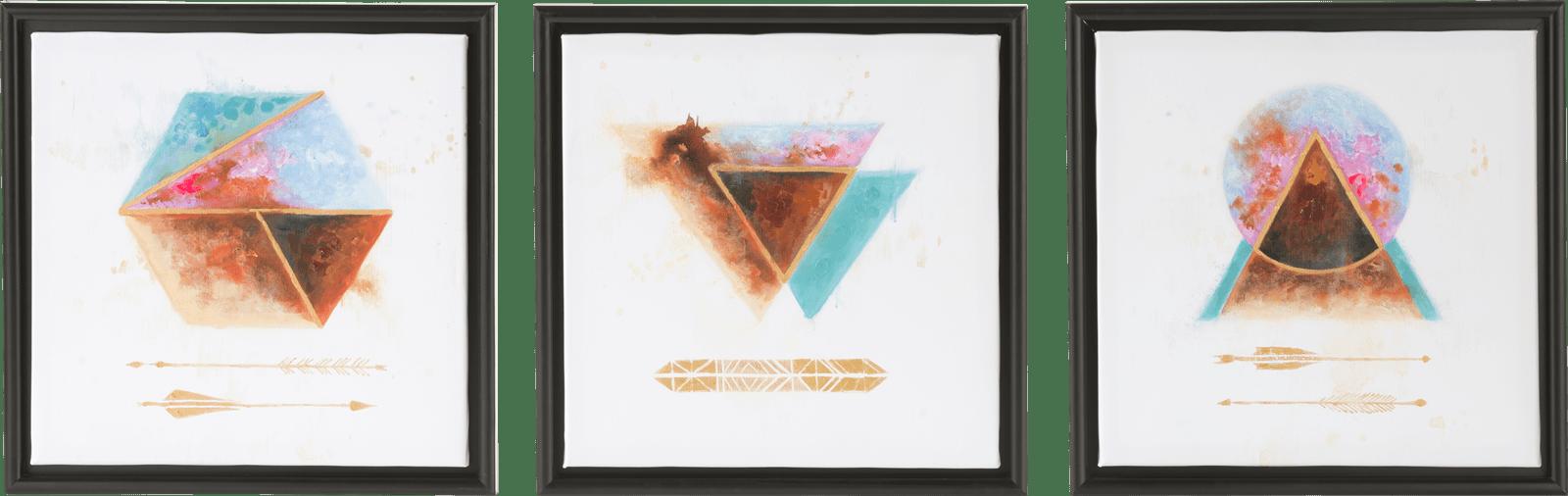 Happy@Home - Coco Maison - a dream set van 3 schilderijen 45x45cm