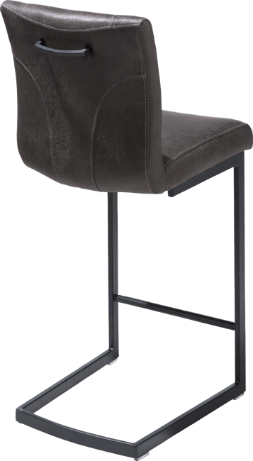 Happy@Home - Sofie Bar - Industrieel - barstoel - zwart swing recht - greep recht - stof secillia