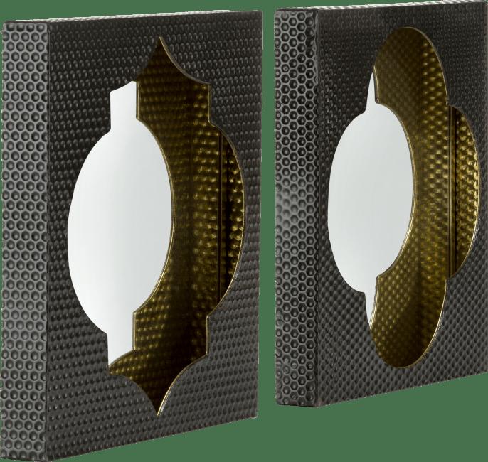Happy@Home - Coco Maison - morocco set van 2 spiegels 40x40cm