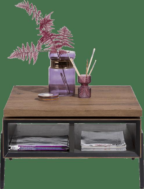 Happy@Home - Janella - Modern - salontafel 70 x 70 cm + draaibare top - 2-niches
