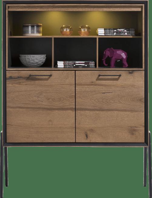 Happy@Home - Janella - Modern - highboard 2-deuren + 4-niches (hoog op poten)(+ led)