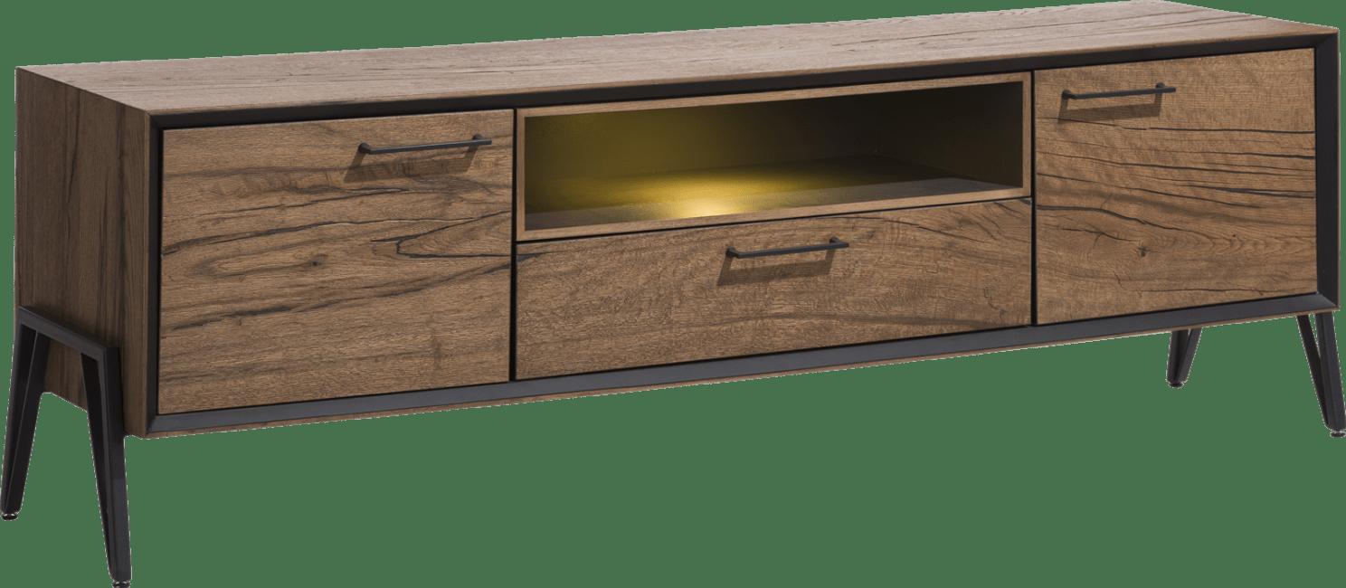 Happy@Home - Janella - Modern - lowboard 180 cm - 2-deuren + 1-lade + 1-niche (+ led)
