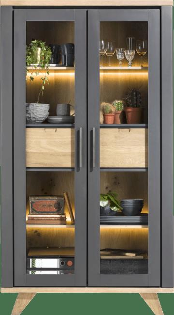 Henders & Hazel - Jardin - Landlich - vitrine 110 cm - 2-glastueren + 2-laden (innen) (+ led)