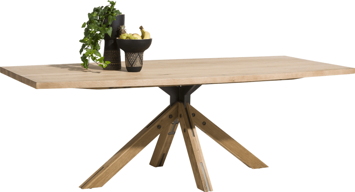 Henders & Hazel - Jardino - Rural - table 200 x 100 cm - pied central