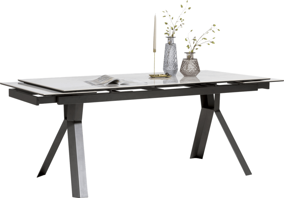XOOON - Glasgow - Design minimaliste - table a rallonge 180 (+ 2x40) x 90 cm