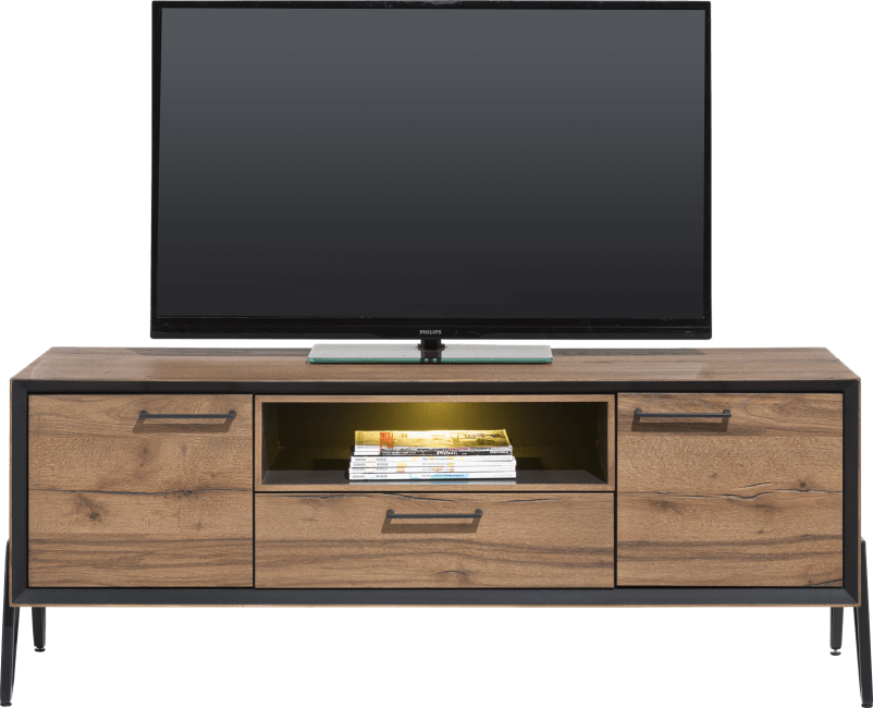 Happy@Home - Janella - Modern - lowboard 150 cm - 2-deuren + 1-lade + 1-niche (+ led)