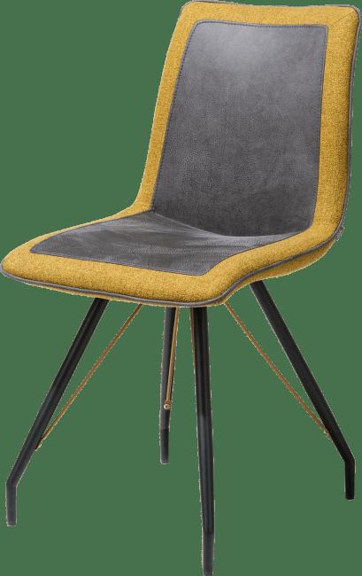 XOOON - Jaro - Industriel - chaise - pied metal noir - poignee avec couleur - combi rocky/lady