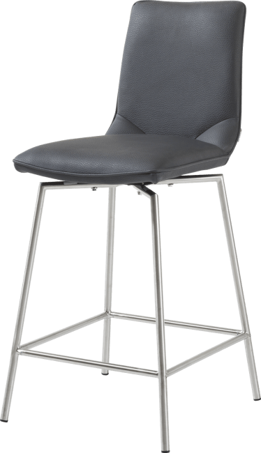 XOOON - Davy - Minimalistic design - barchair stainless steel + moreno