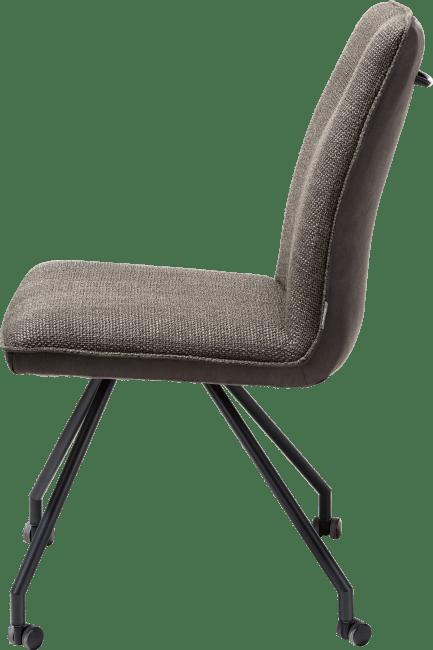 XOOON - Olav - Industriel - chaise + roulettes - combination secilia / vito + poignee rond