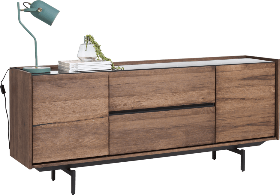 XOOON - Halmstad - Skandinavisches Design - sideboard 190 cm - 2-tueren + 2-laden