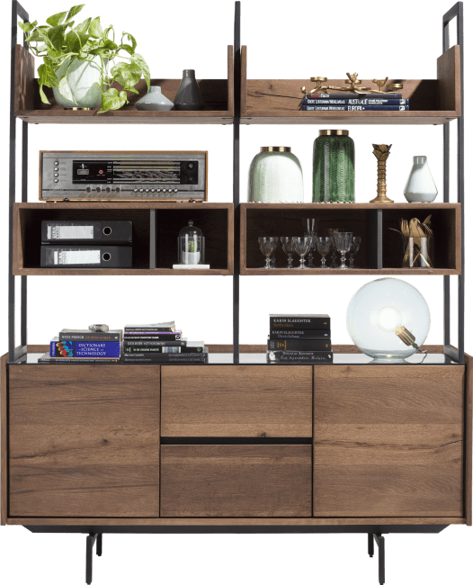 XOOON - Halmstad - Scandinavisch design - buffet 160 cm 2-deuren + 2-laden + 6-niches