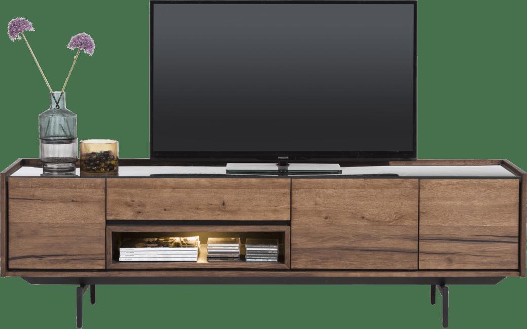 XOOON - Halmstad - Skandinavisches Design - lowboard 190 cm - 3-tueren + 1-lade + 1-nische
