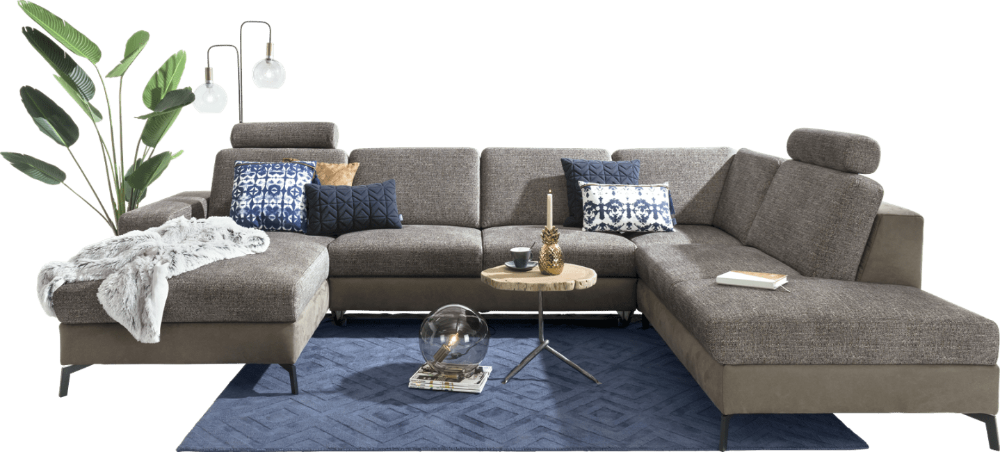 Henders and Hazel - Napels - Sofas - Longchair links - 2,5 Sitzer ohne Armlehne - ottomane rechts