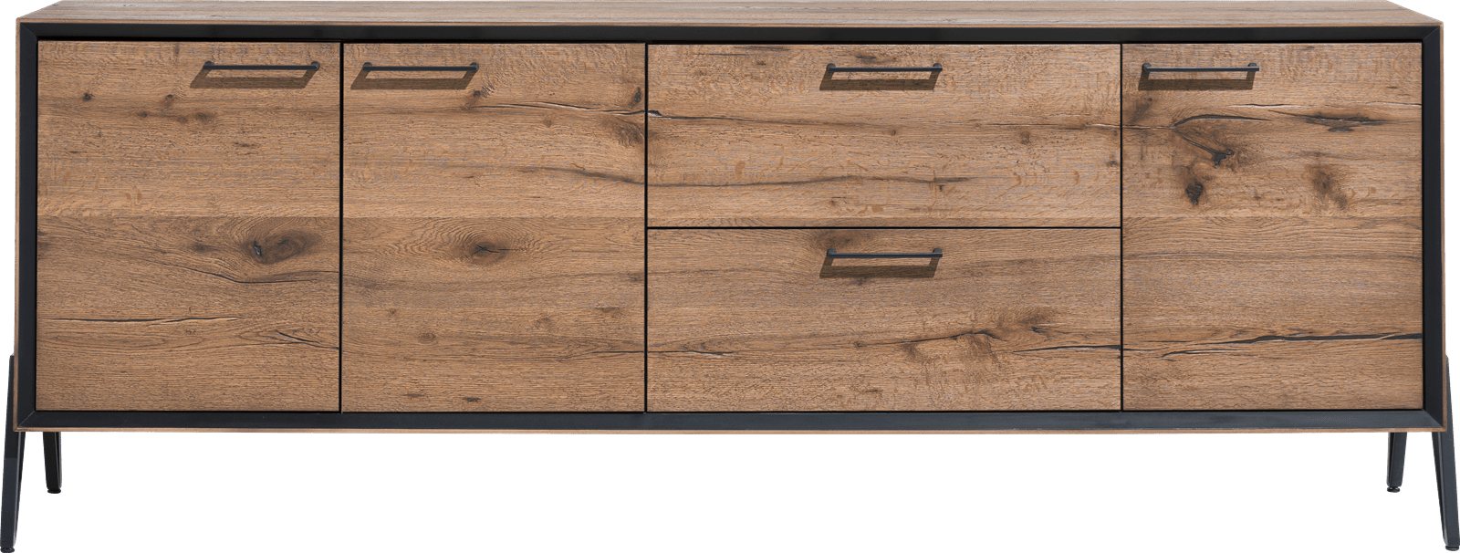 Happy@Home - Janella - Modern - dressoir 210 cm - 3-deuren + 2-laden