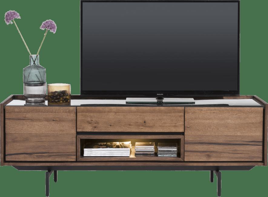 XOOON - Halmstad - Skandinavisches Design - lowboard 160 cm - 2-tueren + 1-lade + 1-nische