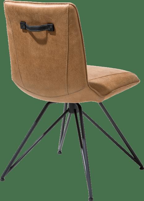 XOOON - Mac - Minimalistisch design - eetkamerstoel - off black frame - rocky + greep catania zwart