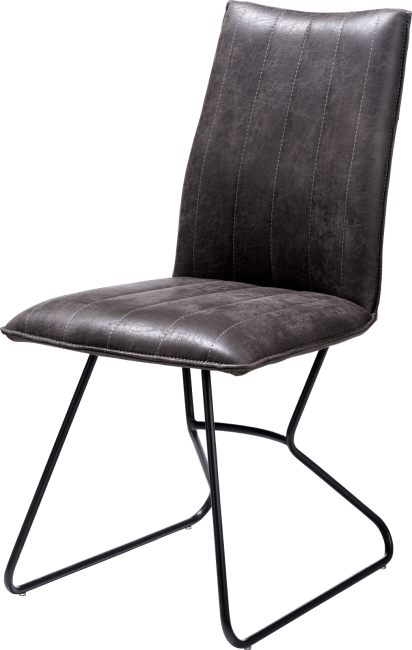 XOOON - Ozzy - Industriel - chaise - off black - tissu secillia