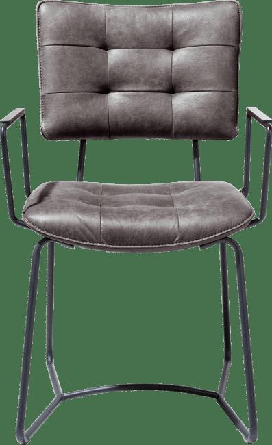 Henders and Hazel - Julien - Industrieel - armstoel - zwart frame - corsica