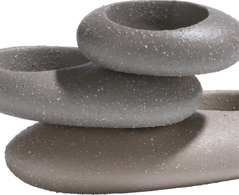 XOOON - Coco Maison - stones set of 3 tealights