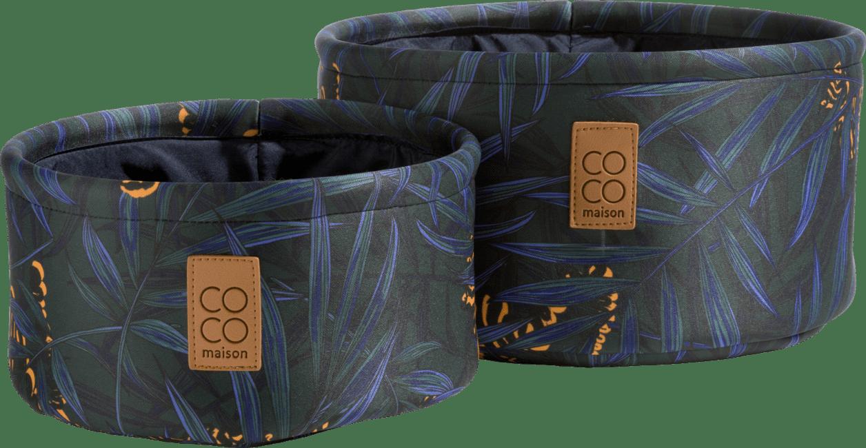 Happy@Home - Coco Maison - tiger set van 2 manden h14+11cm