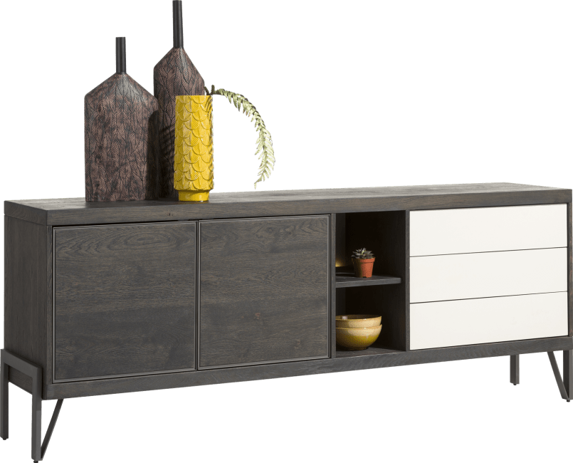 Henders and Hazel - Montpellier - Modern - sideboard 210 cm - 2-tueren + 3-laden + 2-nischen (+ led)