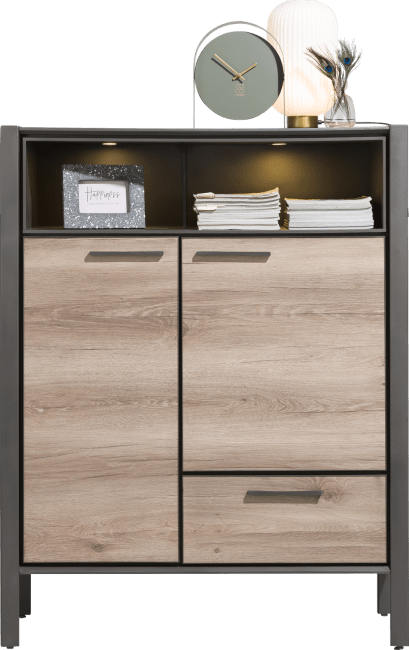 Henders and Hazel - Copenhagen - Modern - highboard 110 cm - 2-tueren + 1-lade + 2-nischen (+ led)
