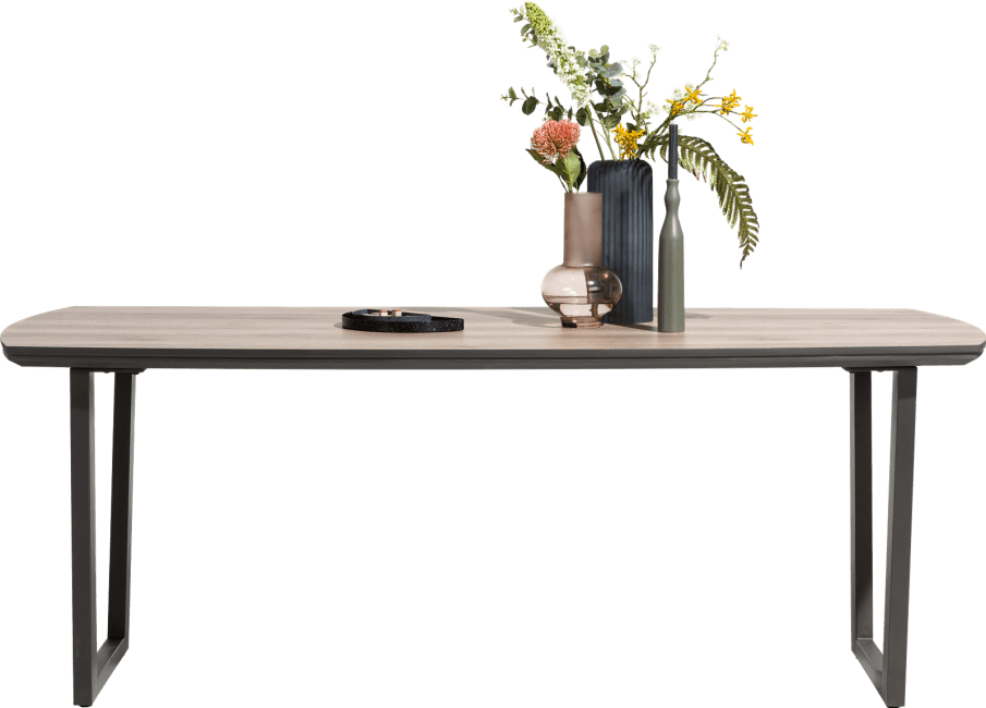 Henders and Hazel - Copenhagen - Modern - eetkamertafel 210 x 98 cm. - v-poot