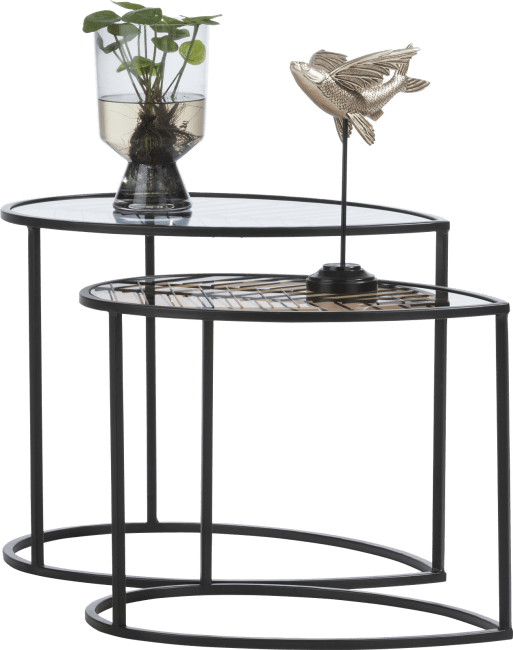 XOOON - Coco Maison - leafs set of 2 side tables h46-40cm