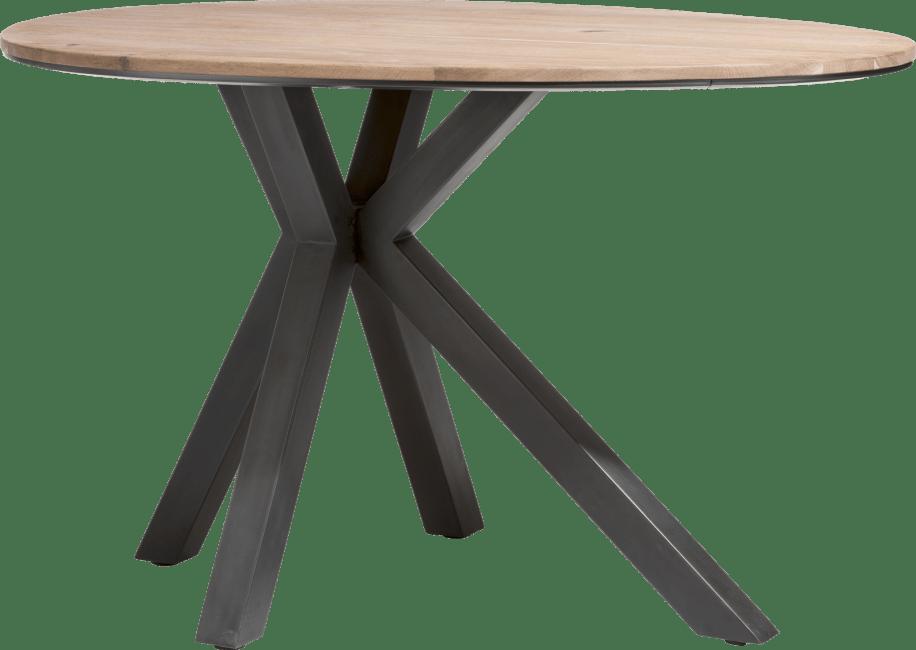 XOOON - Colombo - Industrial - bartable oval 150 x 110 cm - solid kikarwood + mdf