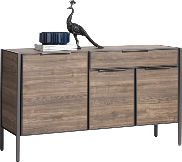 XOOON - Domani - Industrial - sideboard 150 cm - 3-doors + 1-drawer