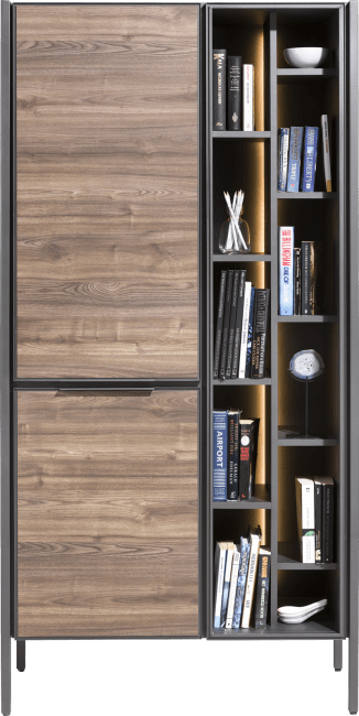 XOOON - Domani - Industrial - cabinet 95 cm - 2-doors + 11-niches (+ led)