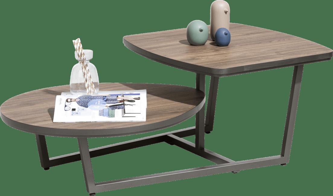 XOOON - Domani - Industrieel - salontafel 115 x 65 cm