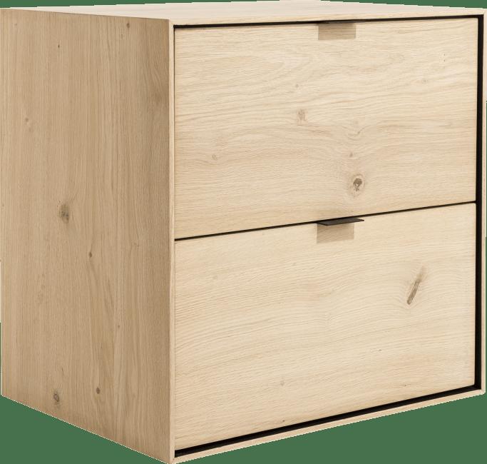 XOOON - Elements - Minimalistisches Design - box 60 x 60 cm. - zum aufhaengen + 2-laden