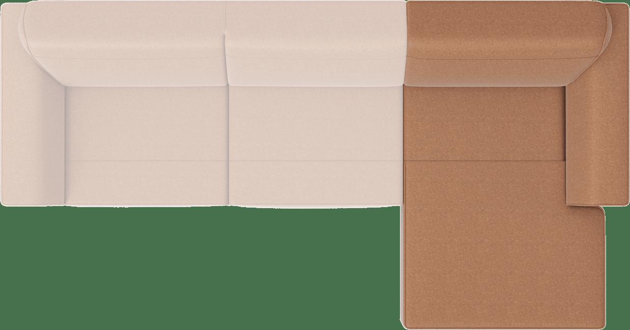 XOOON - Lima - Minimalistisch design - Banken - longchair rechts