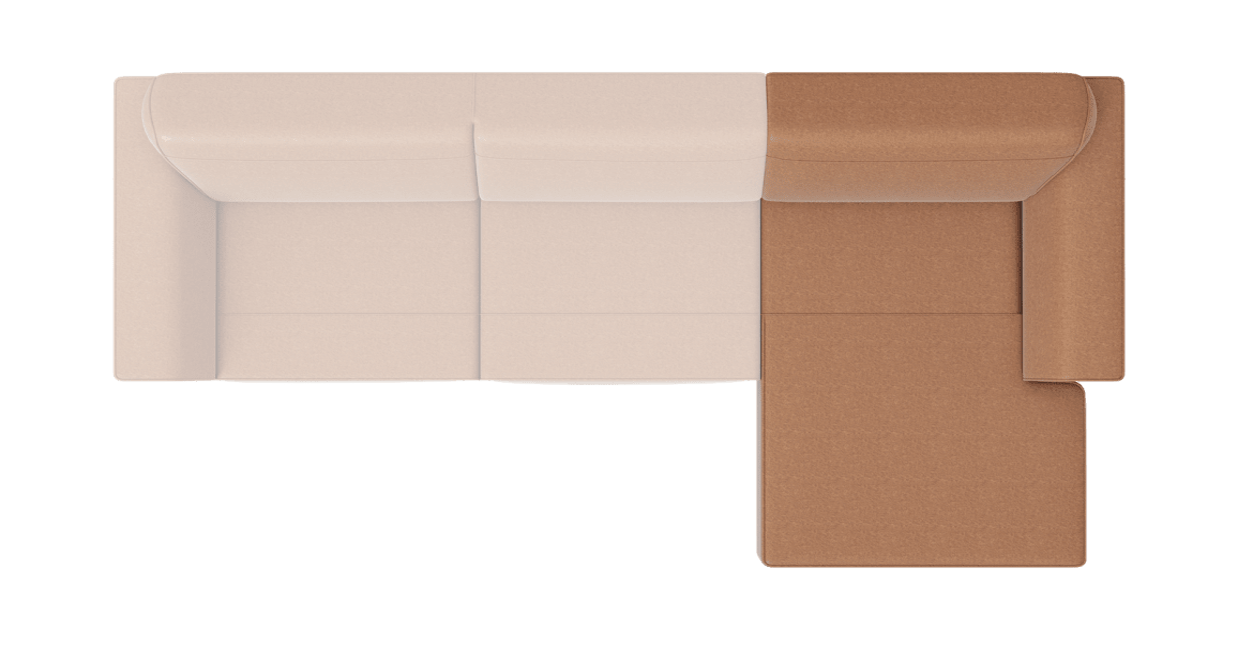 XOOON - Lima - Minimalistisch design - Salons - longchair rechts