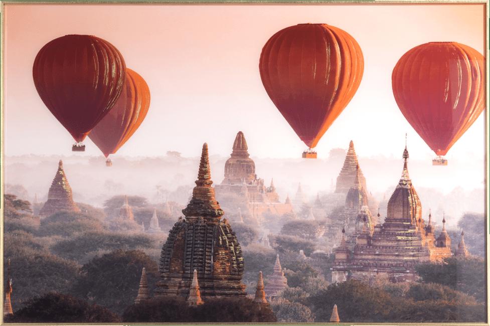 Happy@Home - Coco Maison - air balloon fotoschilderij 80x120cm