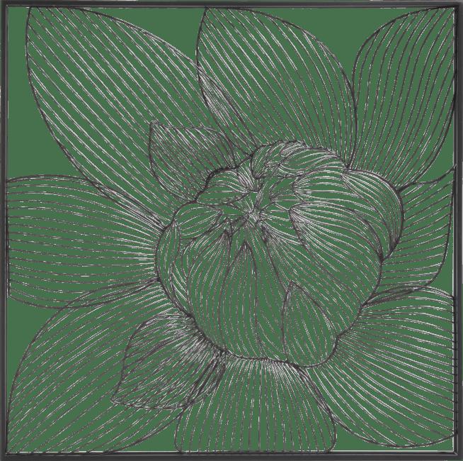 Happy@Home - Coco Maison - modern lily wandobject 74x74cm