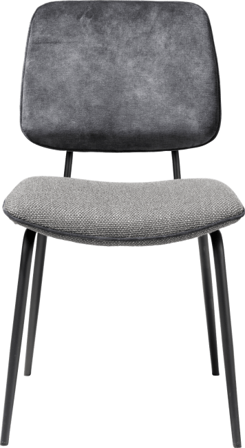 XOOON - Novali - Design minimaliste - chaise - pied off black - dos en karese & assise en vito