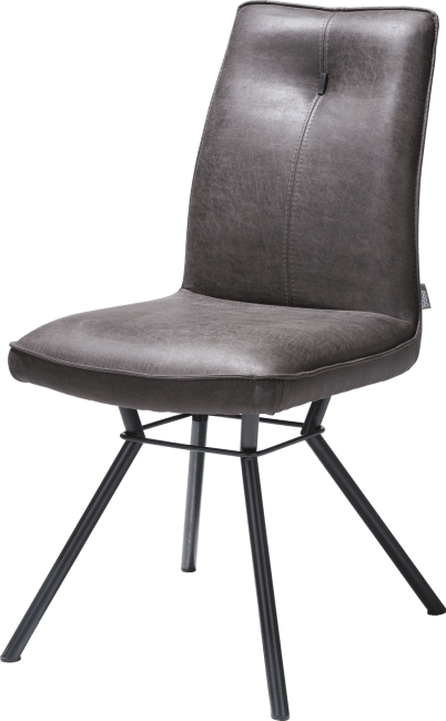 XOOON - Odale - Industrial - dining chair 4-legs - fabric secilia - round handgrip