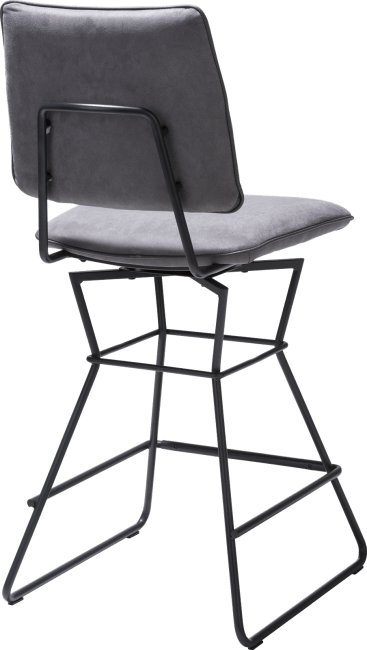 XOOON - Ollie - Scandinavian design - barchair - black frame - kibo anthracite + piping tatra anthracite