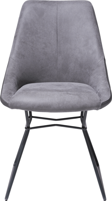 XOOON - Arvin - Industrial - dining chair - powdercoated black - combination kibo fr/tatra