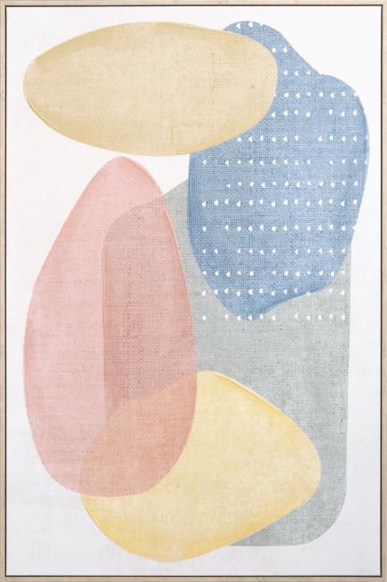 Happy@Home - Coco Maison - pastels schilderij 80x120cm