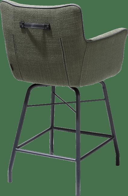 Henders & Hazel - Chiara - Modern - tresenstuhl mit handgriff in catania leder schwarz - stoff vito