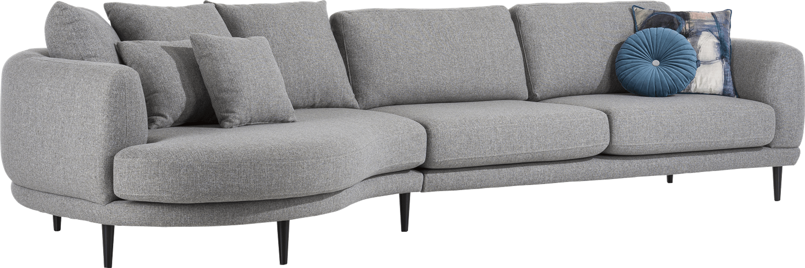 Henders and Hazel - Portland - Modern - Banken - lounge end inclusief 3 rugkussens big - rond - links