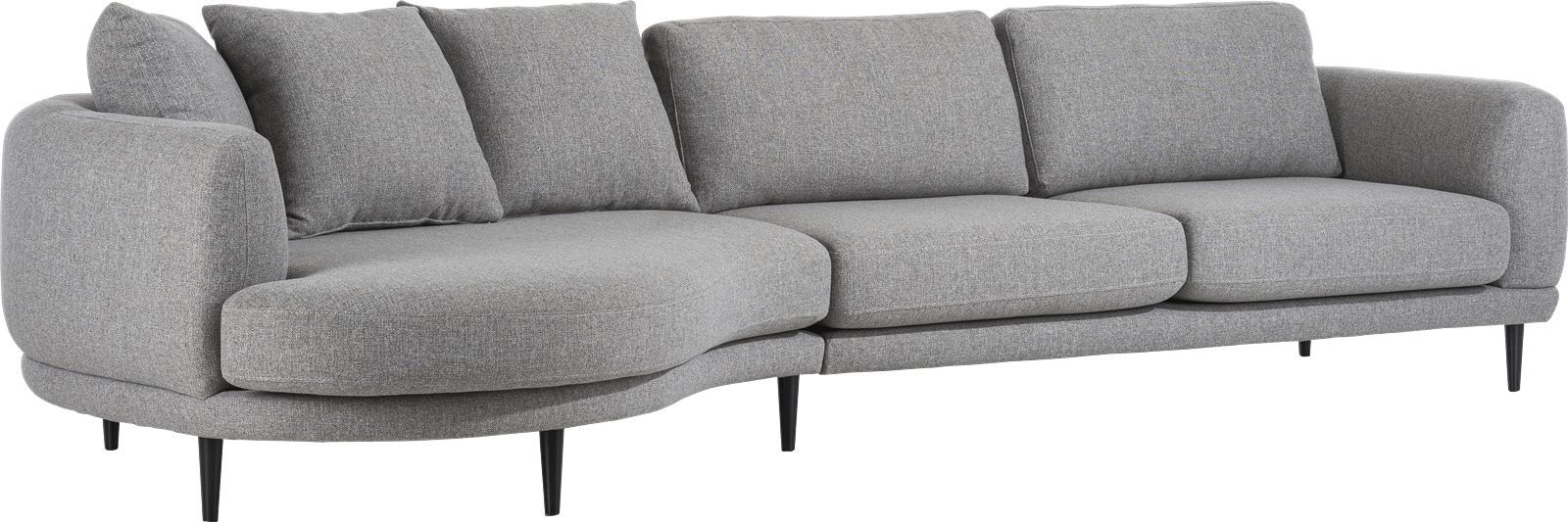 H&H - Portland - Moderne - lounge end 3 coussin big inclus - rond - gauche